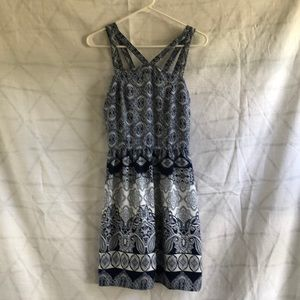 Anthropologie Damask and Paisley Strappy Dress